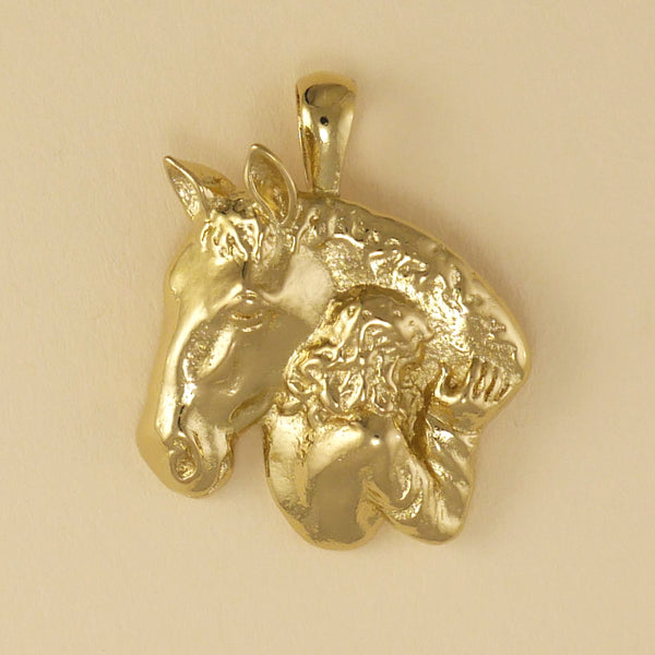 Girl With Horse Pendant - Charmworks