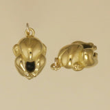 US made gold vermeil roast chicken charm.