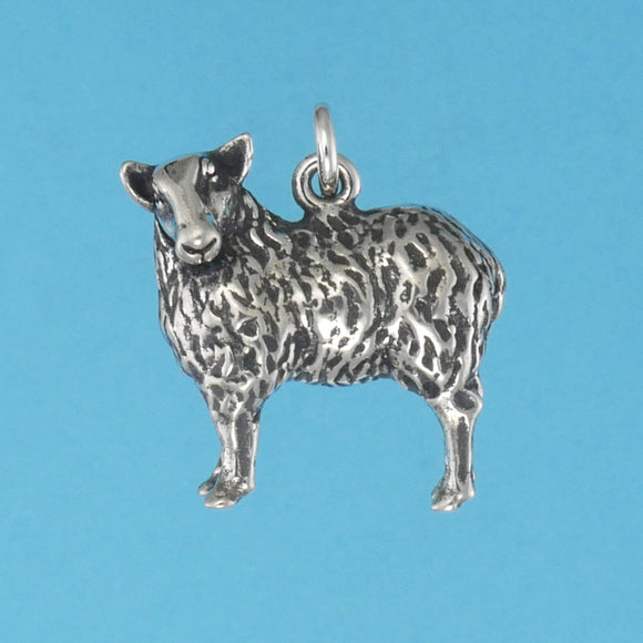 Sterling Silver Sheep Charm - Charmworks
