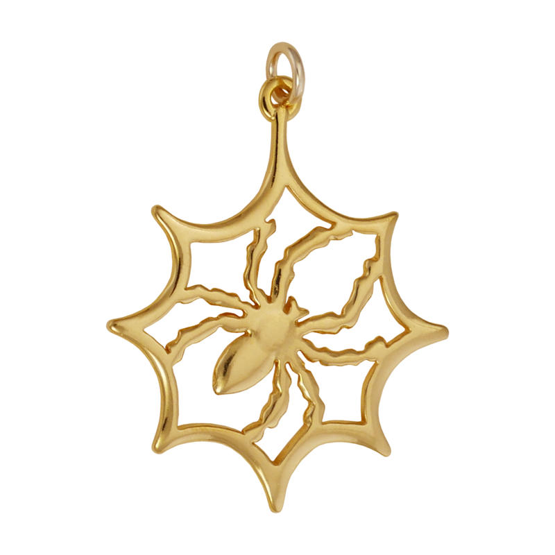 Spider In Web Charm - Charmworks
