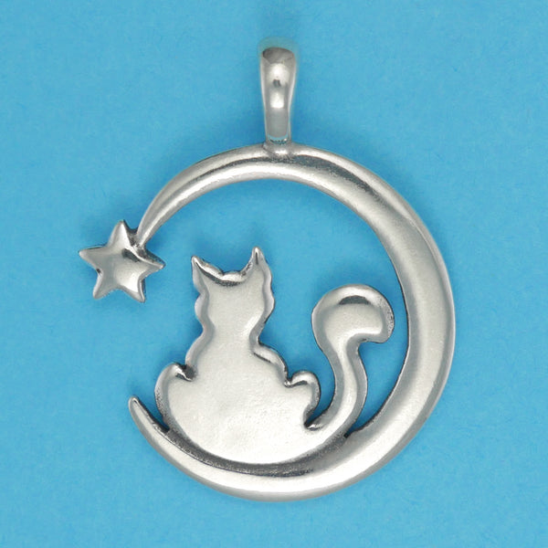 Cat And Moon Pendant - Charmworks