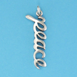 Sterling Silver Peace Charm - Charmworks