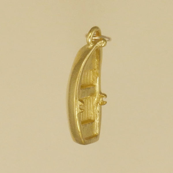 Gold Vermeil Row Boat Charm - Charmworks