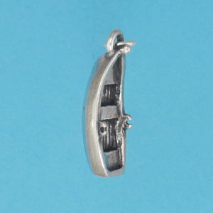 Sterling Silver Row Boat Charm - Charmworks