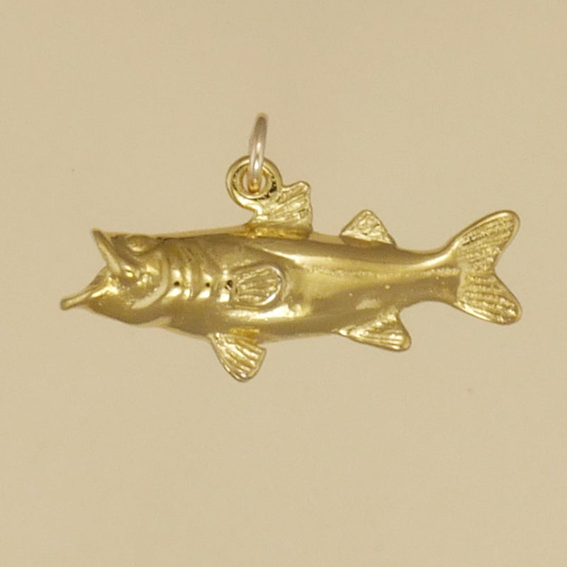Gold Vermeil Snook Charm - Charmworks