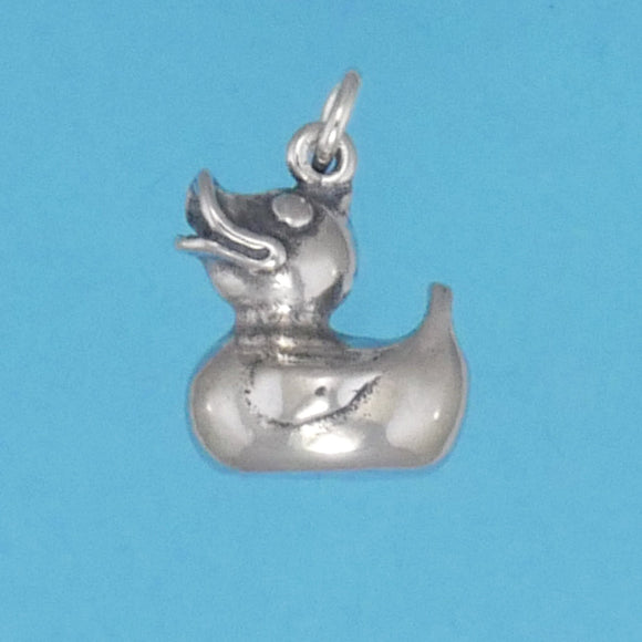Sterling Silver Rubber Ducky Charm - Charmworks
