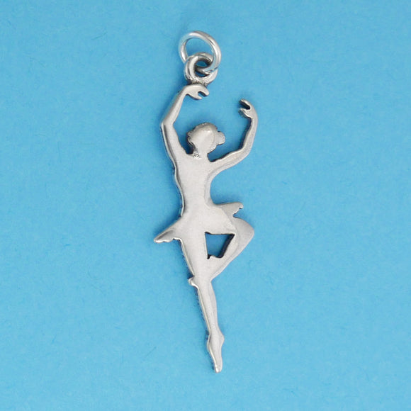 Sterling Silver Ballerina Charm - Charmworks