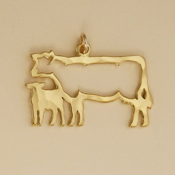 Cow And Calf Charm - Charmworks