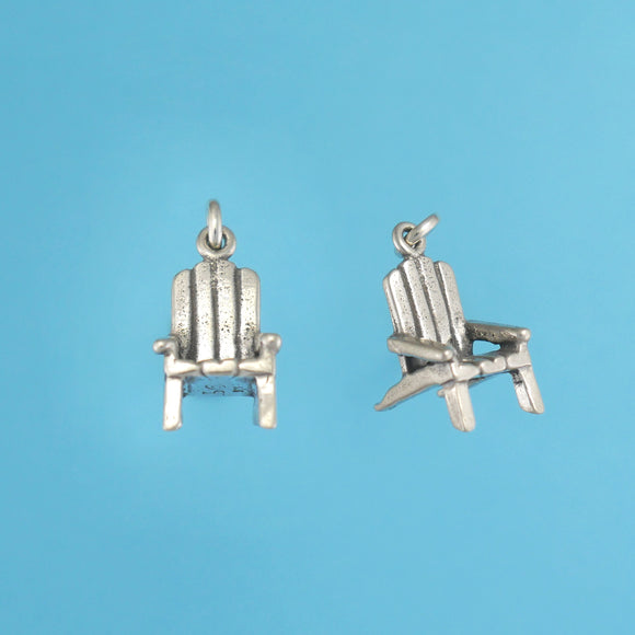 Sterling Silver Adirondack Chair Charm - Charmworks