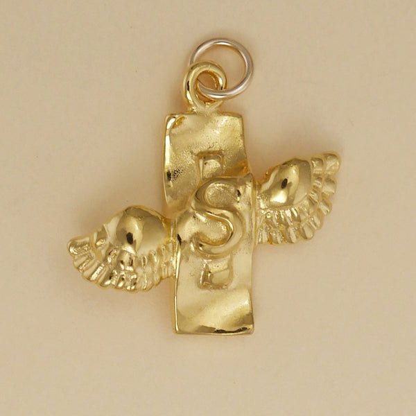 Gold Vermeil Money Flies Charm - Charmworks