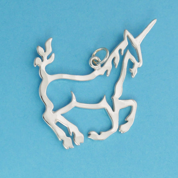 Sterling Silver Unicorn Charm - Charmworks