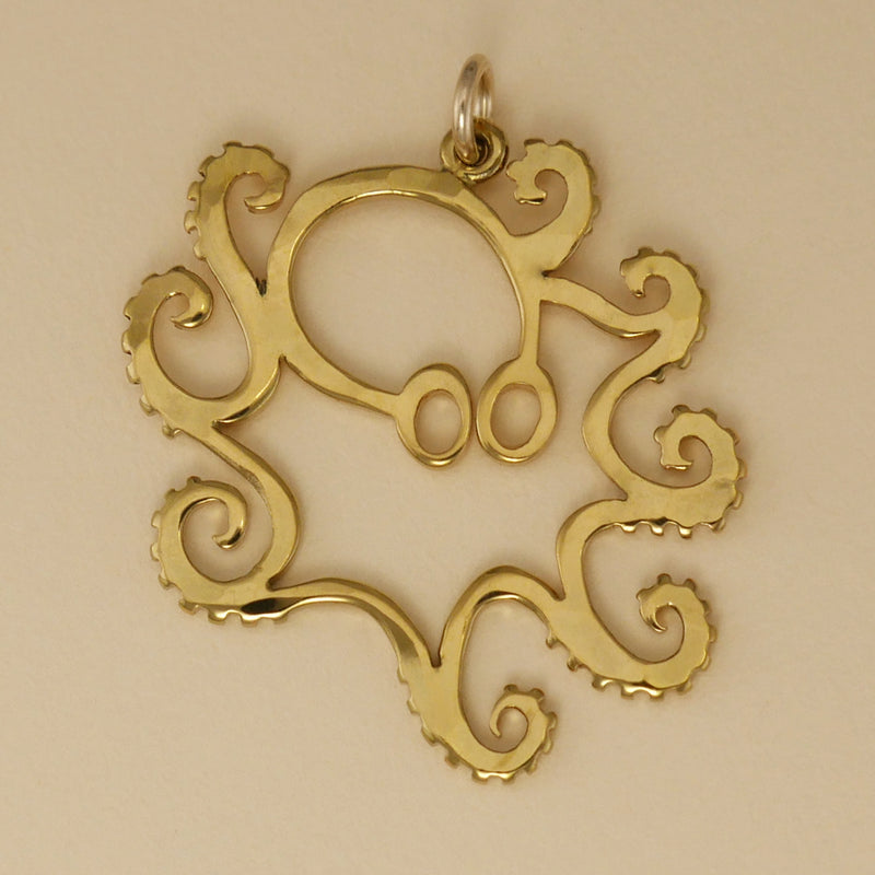 Gold Vermeil Octopus Charm - Charmworks