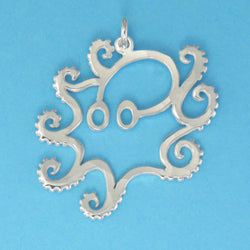 Sterling Silver Octopus Charm - Charmworks