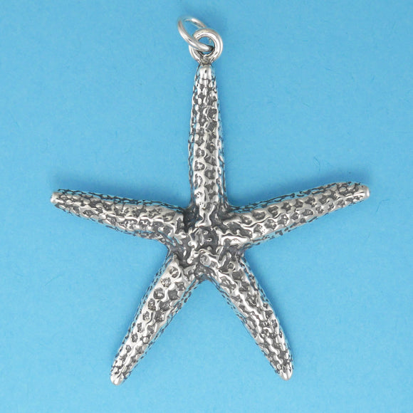 Sterling Silver Starfish Pendant - Charmworks