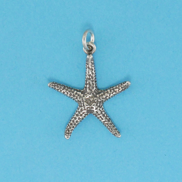 Sterling Silver Starfish Charm - Charmworks