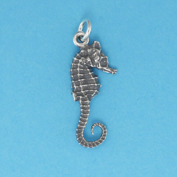 Sterling Silver Seahorse Charm - Charmworks