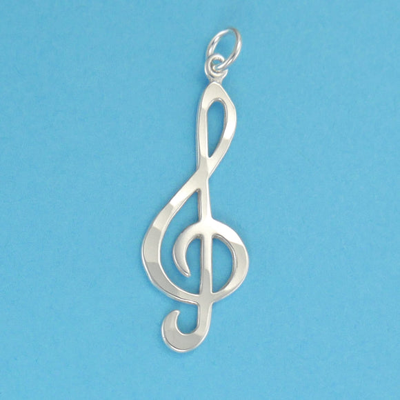 Sterling Silver Treble Clef Pendant - Charmworks