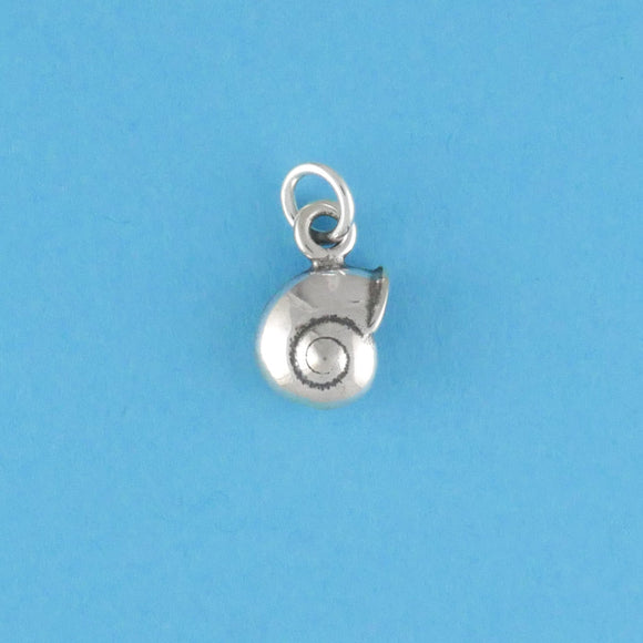 Sterling Silver Sea Snail Shell Charm - Charmworks