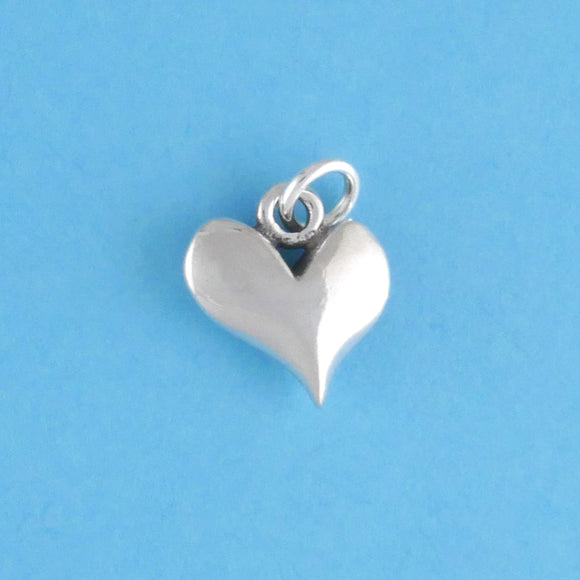 Sterling Silver Solid Heart Charm - Charmworks