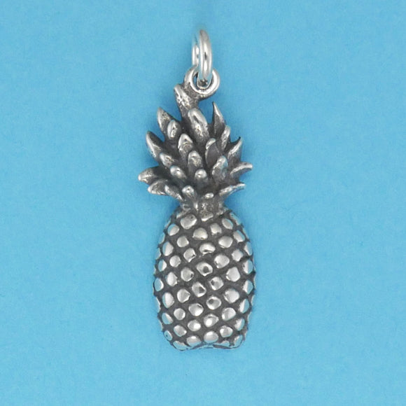 US made sterling silver pineapple charm.
