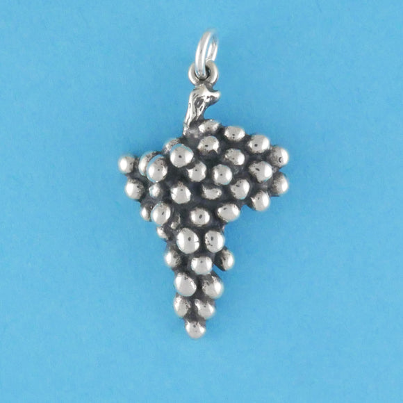 US made sterling silver cluster of grapes charm.