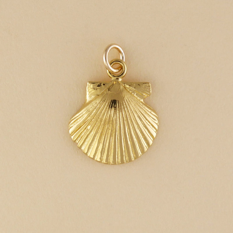 Gold Vermeil Scallop Charm - Charmworks