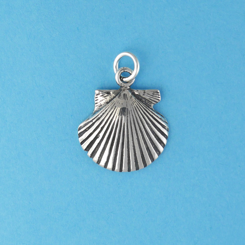 Sterling Silver Scallop Charm - Charmworks
