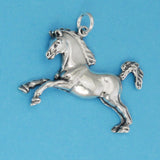 US made sterling silver prancing horse charm.