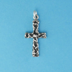 Textured Cross Charm - Charmworks