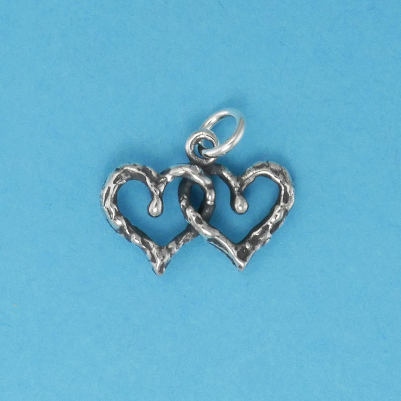 Double Heart Charm - Charmworks