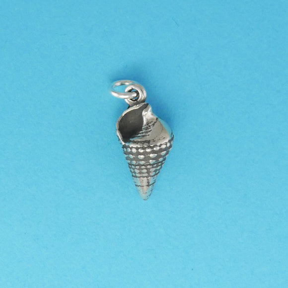 Sterling Silver Top Snail Shell Charm - Charmworks