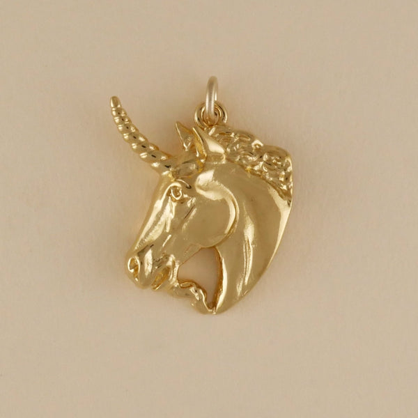 Gold Vermeil Unicorn Head Charm - Charmworks