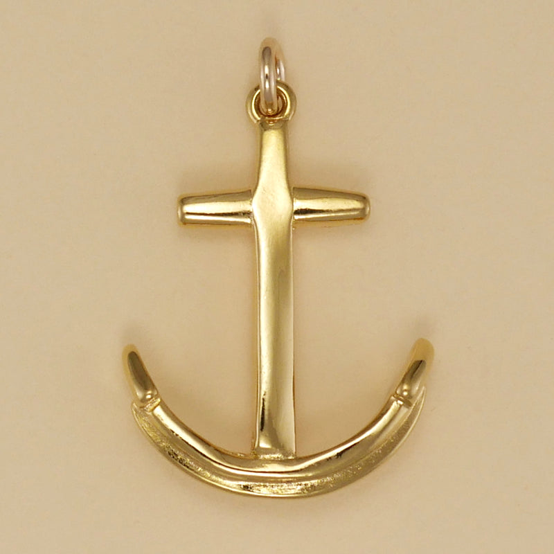 Gold Vermeil Traditional Anchor Charm - Charmworks