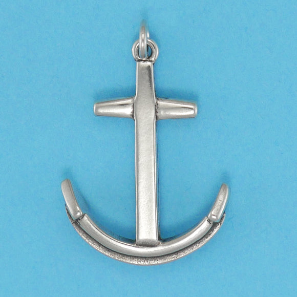 Sterling Silver Traditional Anchor Charm - Charmworks