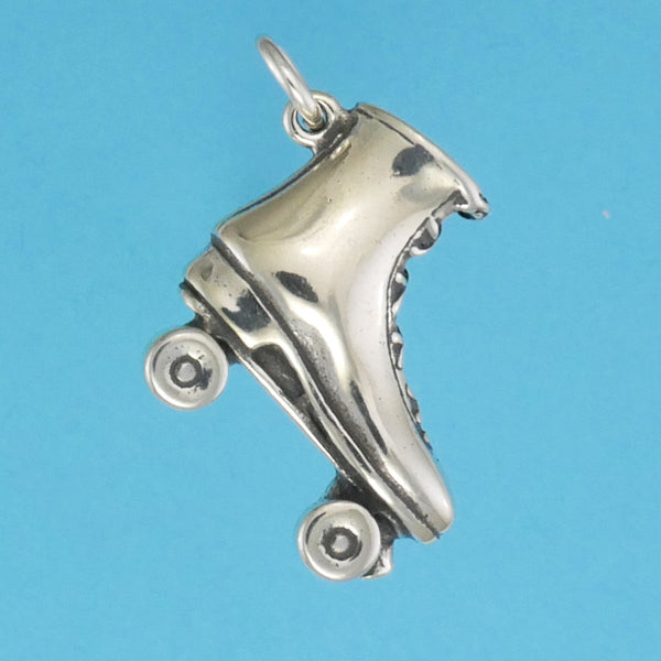 Sterling Silver Roller Skate Charm - Charmworks