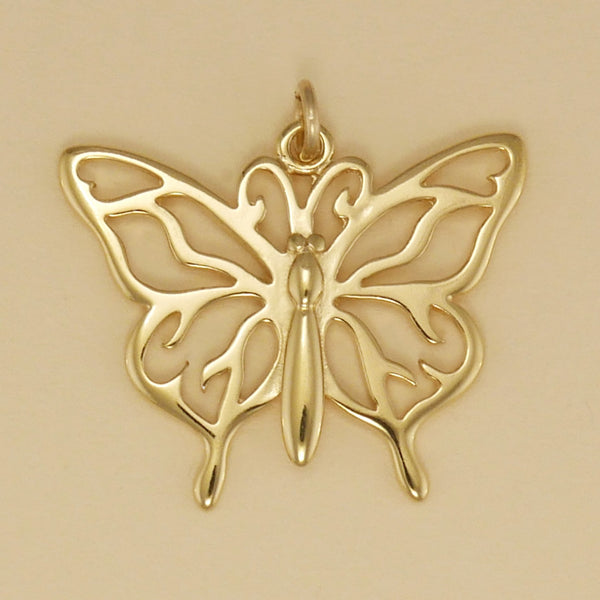 Complex Wing Butterfly Pendant - Charmworks