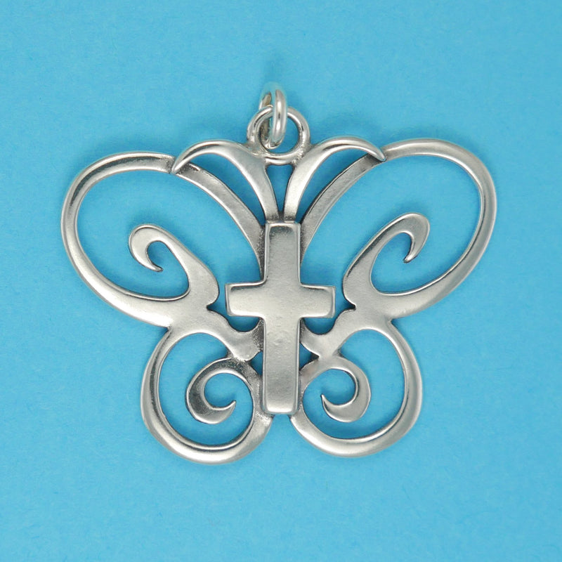 Butterfly Cross Pendant - Charmworks