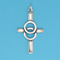 Sterling Silver Marriage Cross Pendant - Charmworks
