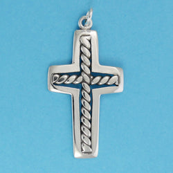 Twisted Wire Cross Charm - Charmworks