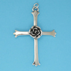 Rose Cross Pendant - Charmworks