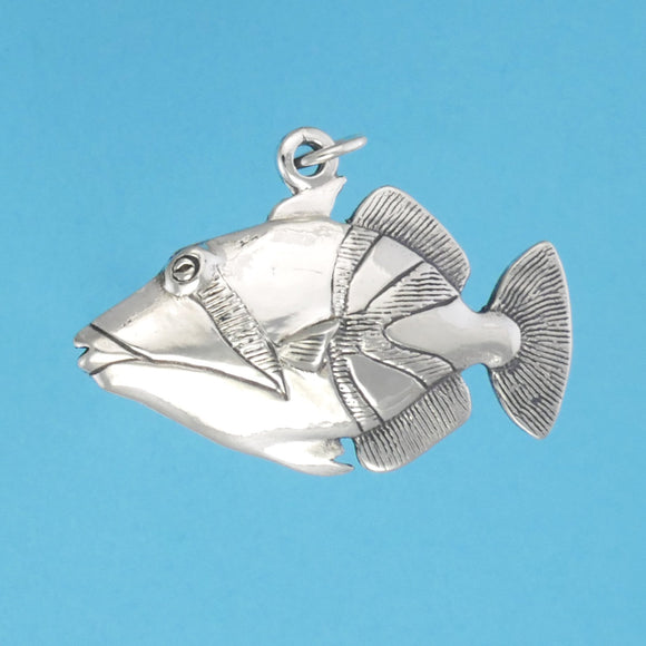 Sterling Silver Trigger Fish Pendant - Charmworks