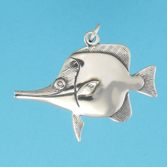 Sterling Silver Longnose Butterflyfish Pendant - Charmworks