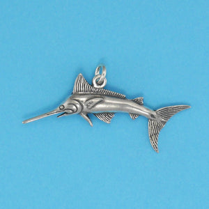 Sterling Silver Marlin Charm - Charmworks