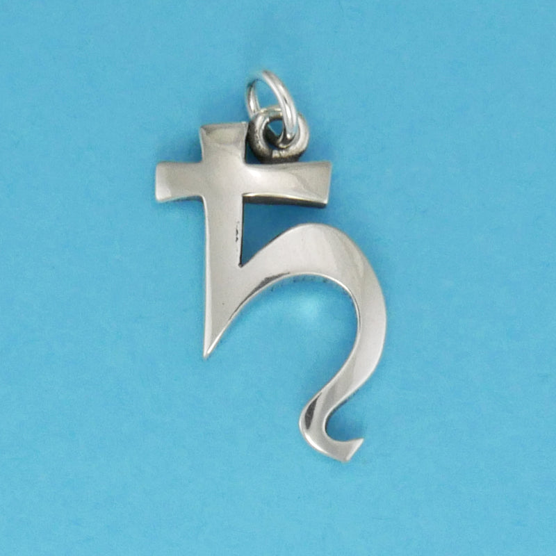 Sterling Silver Saturn Symbol Charm - Charmworks