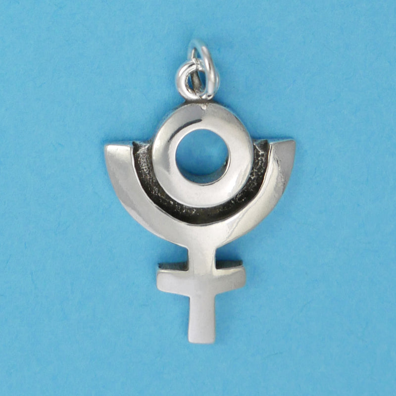 Sterling Silver Pluto Symbol Charm - Charmworks