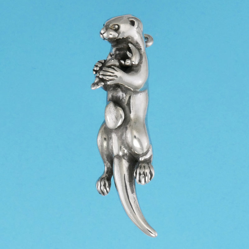 Sterling Silver Sea Otter Pendant - Charmworks