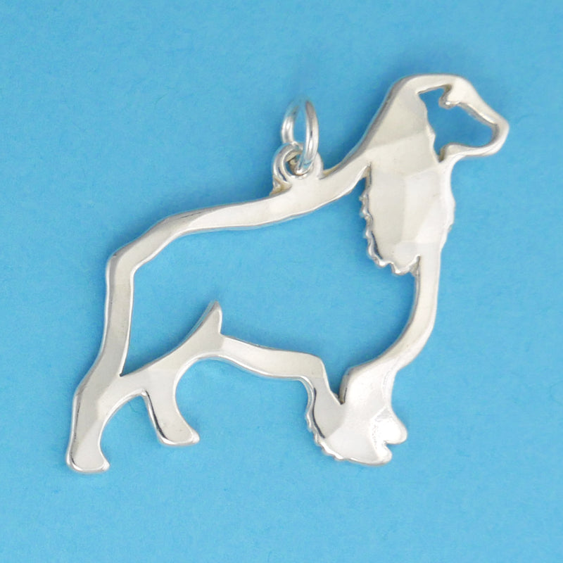 US made sterling silver spaniel charm.