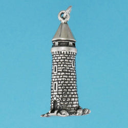 Sterling Silver Medieval Tower Charm - Charmworks
