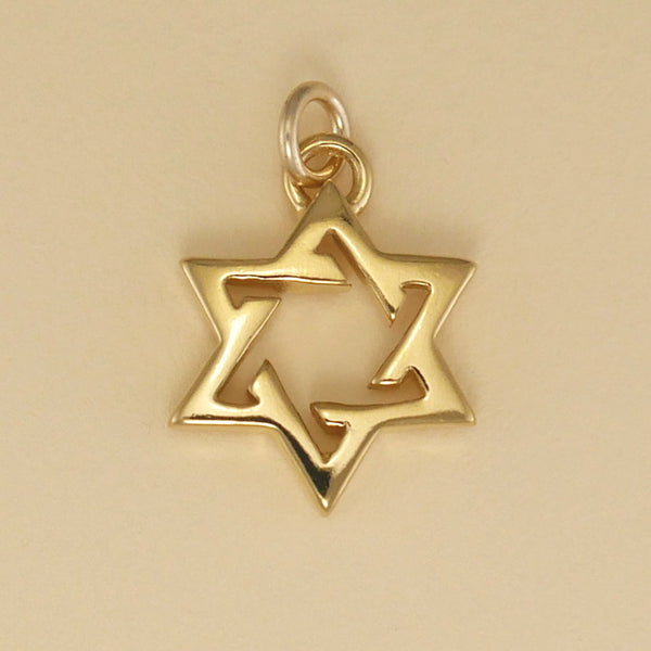 Gold Vermeil Open Six Point Star Charm - Charmworks