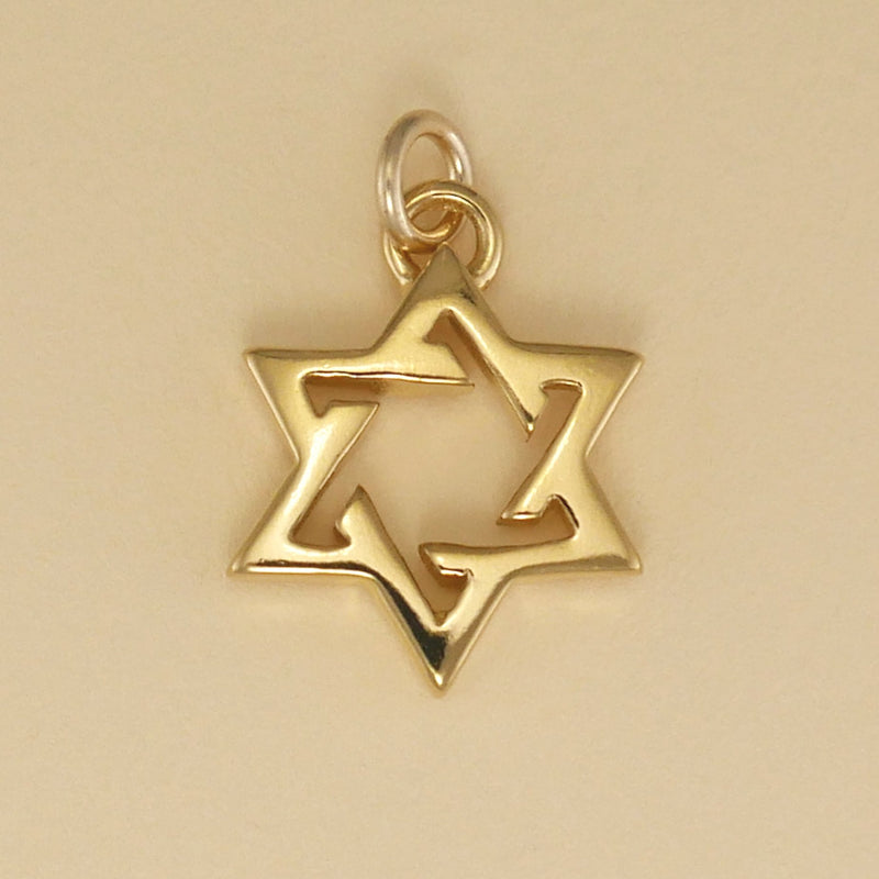 Open Six Point Star Charm - Charmworks
